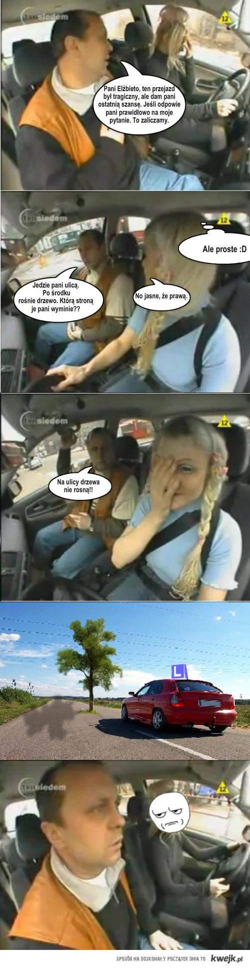 Blond driver