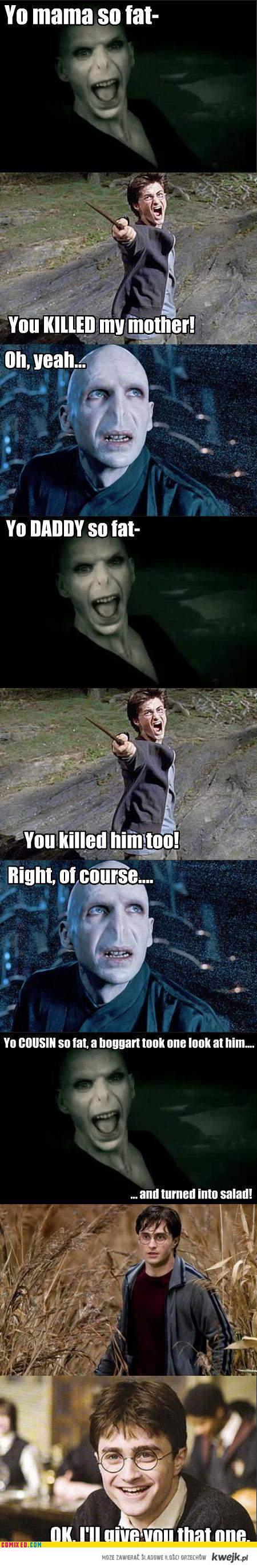 Voldemort tells a pretty good joke