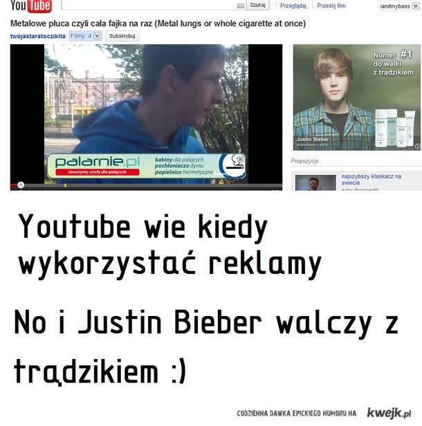 Reklama dostosowująca się do sytuacji + Justin Bieber