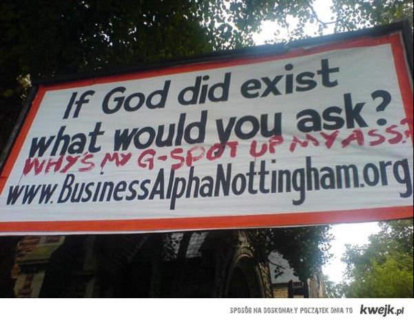 Pytanie do boga gdyby istniał