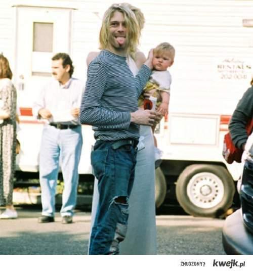 Kurt z dzieckiem :D