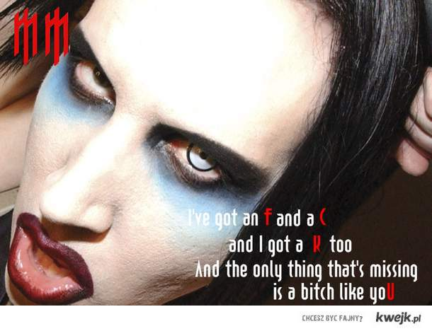 Marilyn Manson TGAOG <3