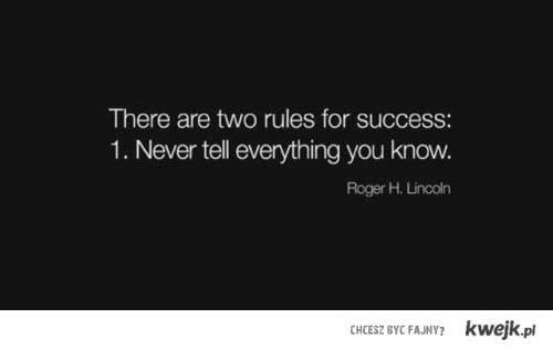 2 podstawowe zasady aby odnieść sukces