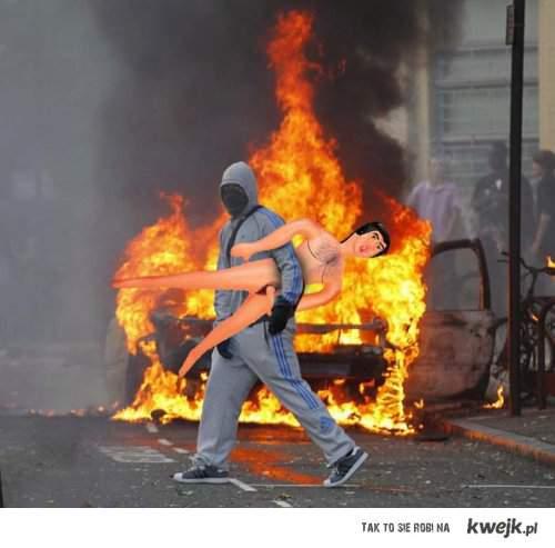 Zamieszki w Londynie - Gej