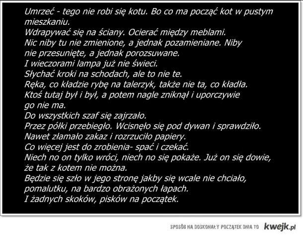Wiersz p. Wisławy Szymborskiej.