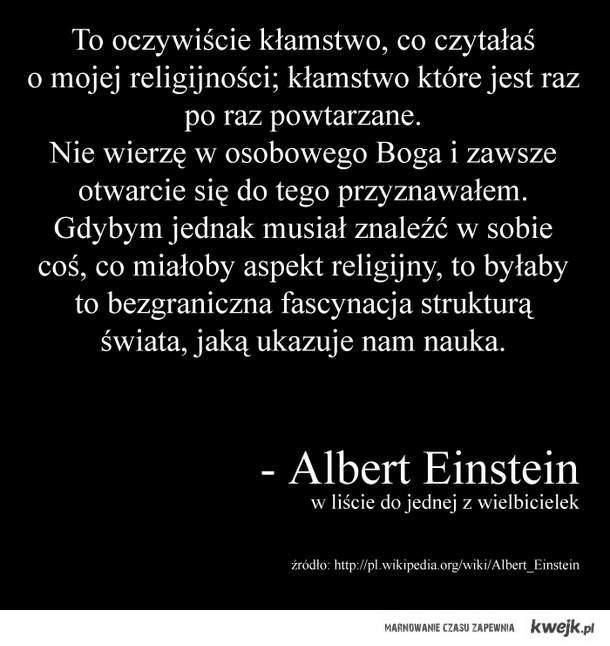 Albert Einstein o religijności