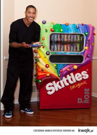 Automat ze skittlesami :)