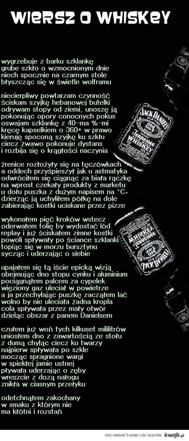 wiersz o whiskey