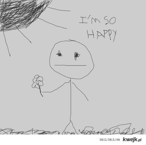 "i'm soo ""happy"""