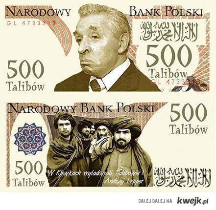 500 talibów - nowa waluta