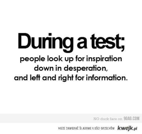 podczas testu