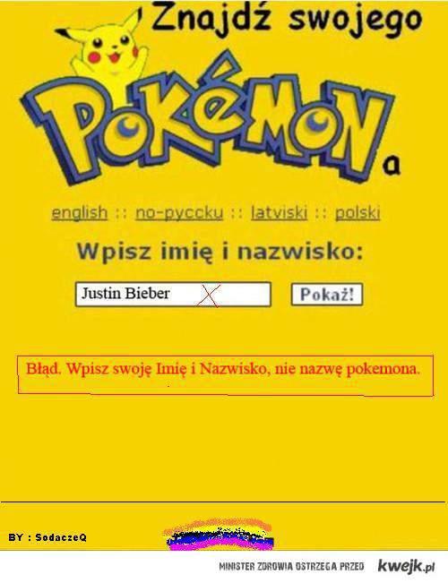Justin Bieber to Pokemon !!!