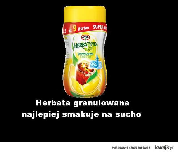 herbatka granulowana .