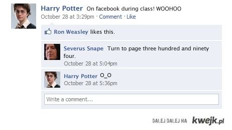 On facebook during class