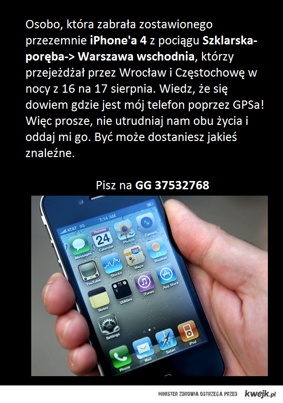 iphone zagubiony