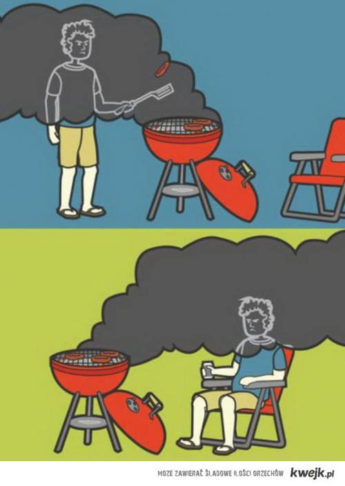 Dym z grilla