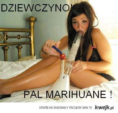 Girls smoke cannabis