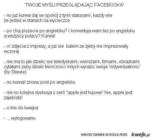 Twoje myśli przeglądając Facebooka