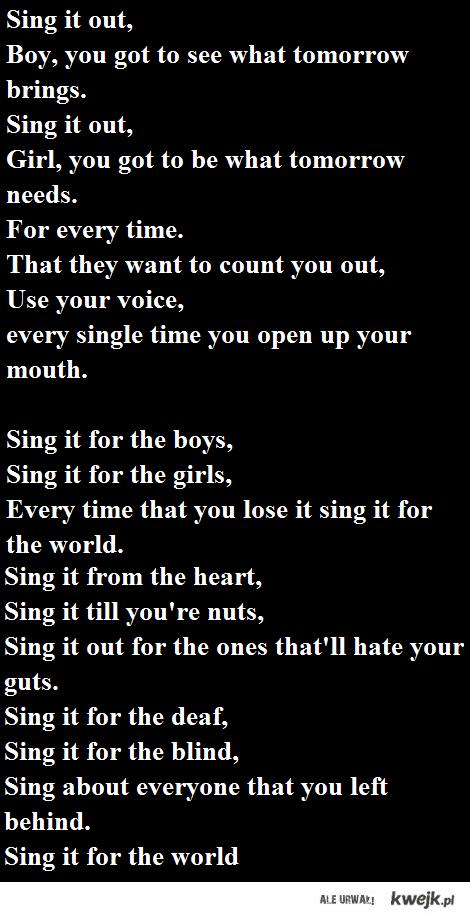 MCR - Sing