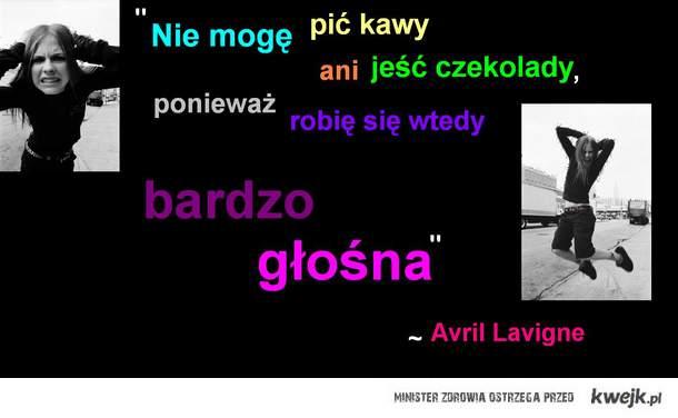 Avril Lavigne kawa i czekolada