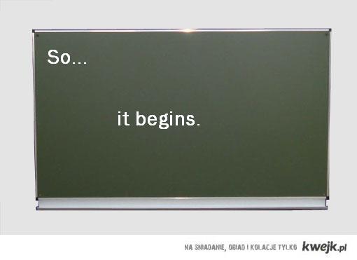 Szkoła się zaczyna :'(