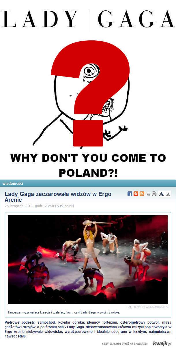gaga w Polsce