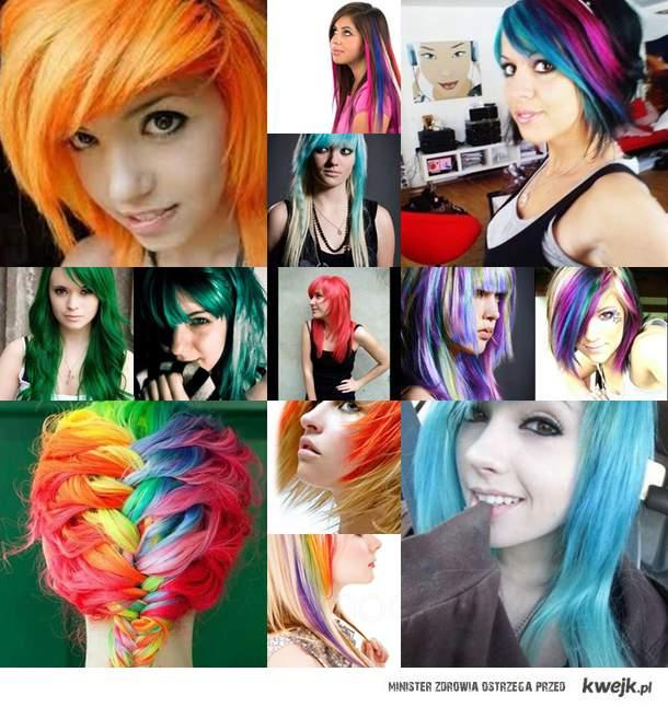 Kolorowe włosy :D