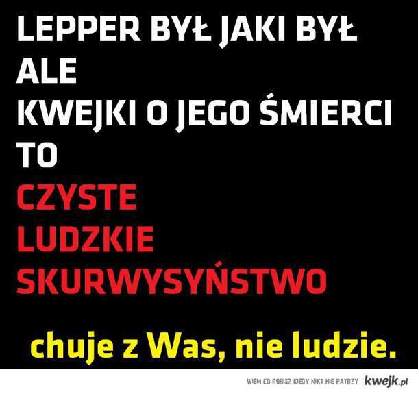 Śmierć Leppera