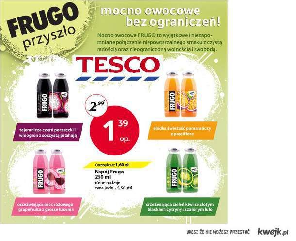 Frugo w Tesco