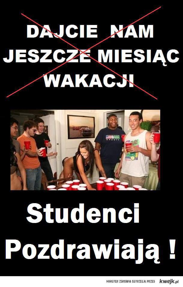 Studenci pozdrawiają