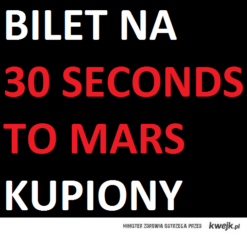 30 second to mars bilet