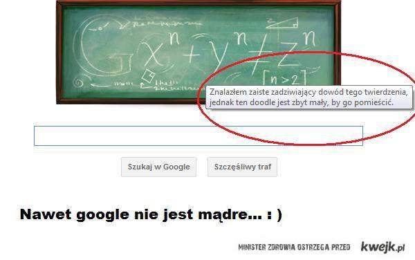Nawet google nie jest mądre...