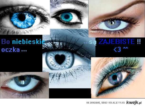 niebieskie oczka