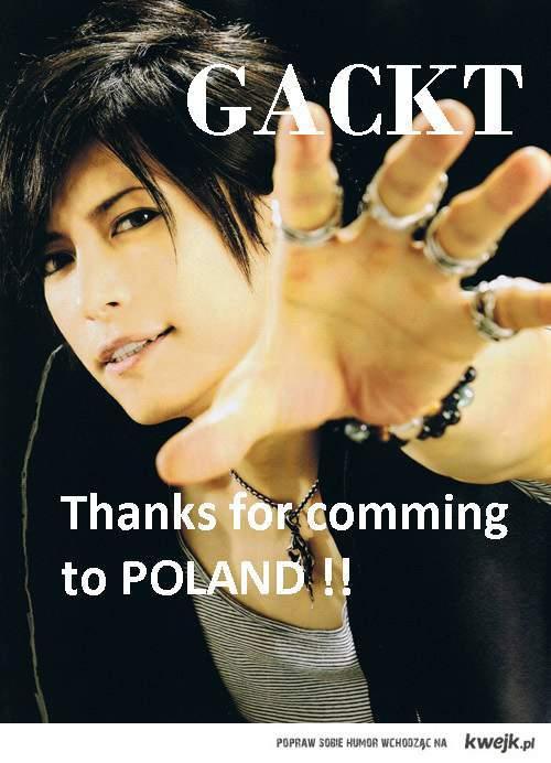 Gackt in POLAND !