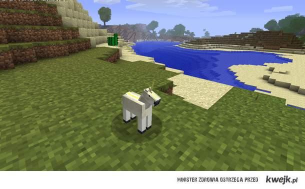 Small unicorn in Minecraft
