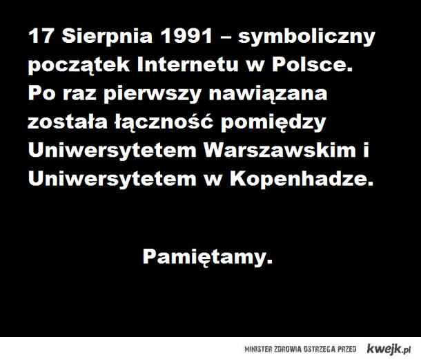 Początek internetu w Polsce