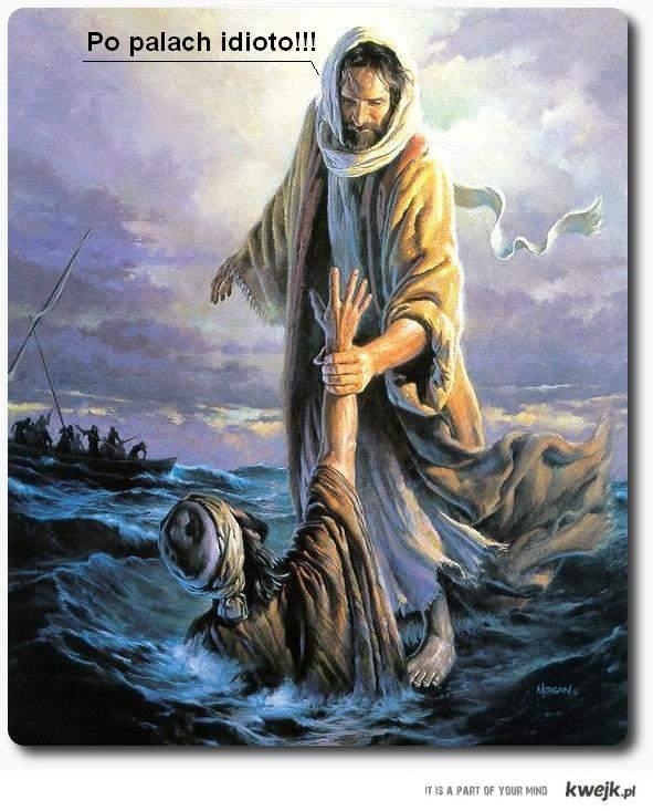 jezus codzi po wodzie