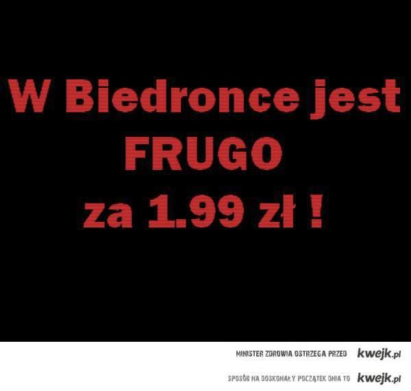 Frugo w Biedronce