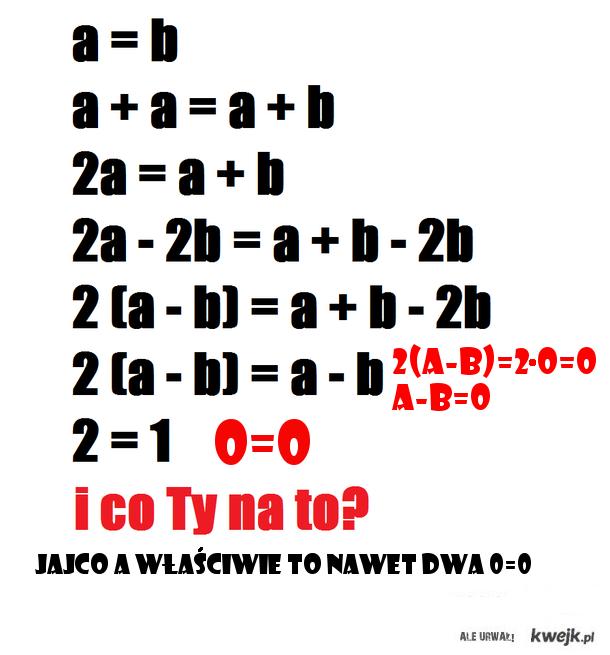 Matematyka jakiegoś idioty z kwejka -.-