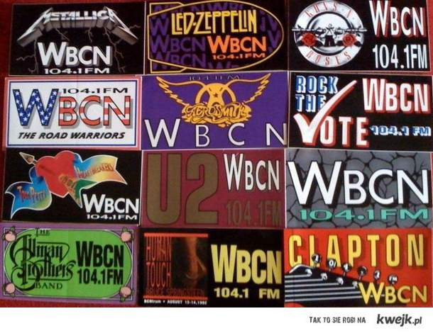 Old WBCN stickers