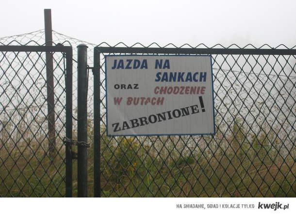 JAZDA NA SANKACH I CHODZENIE W BUTACH