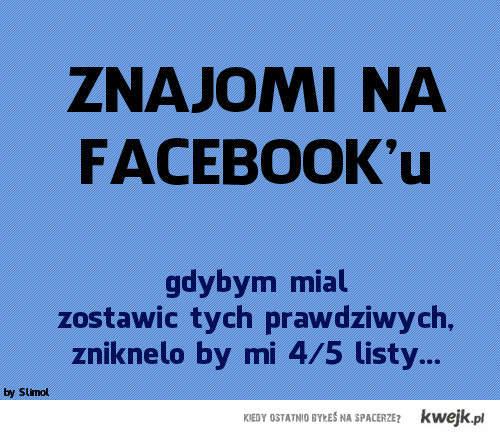 znajomi na facebook'u