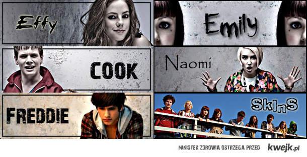 Effy,Cook,Freddie,Emily,Naomi..