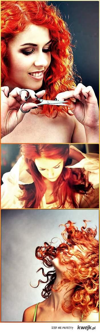 Dziewczyny w rudych kręconych włosach są zajebiste !