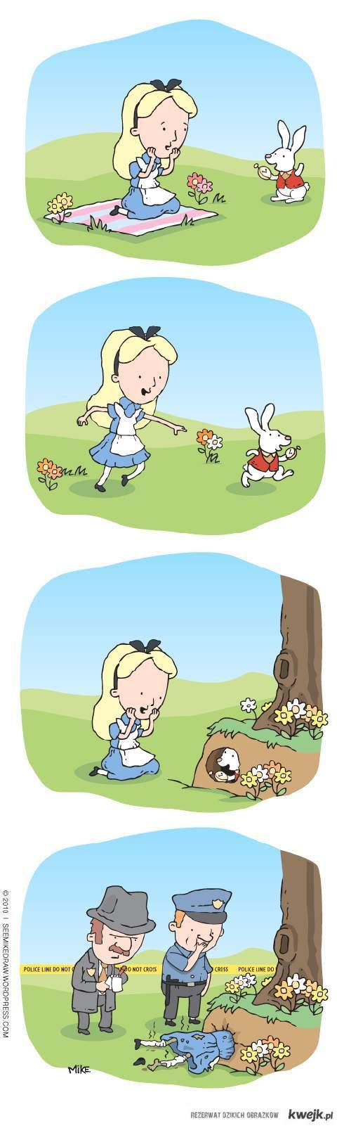 Alicja w krainie umarłych.