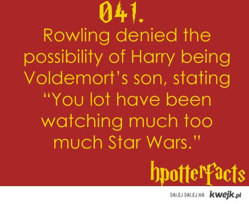 Voldemort nie jest ojcem Harrego.