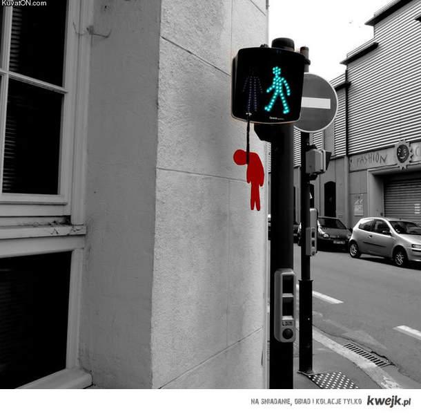 traffic light street art