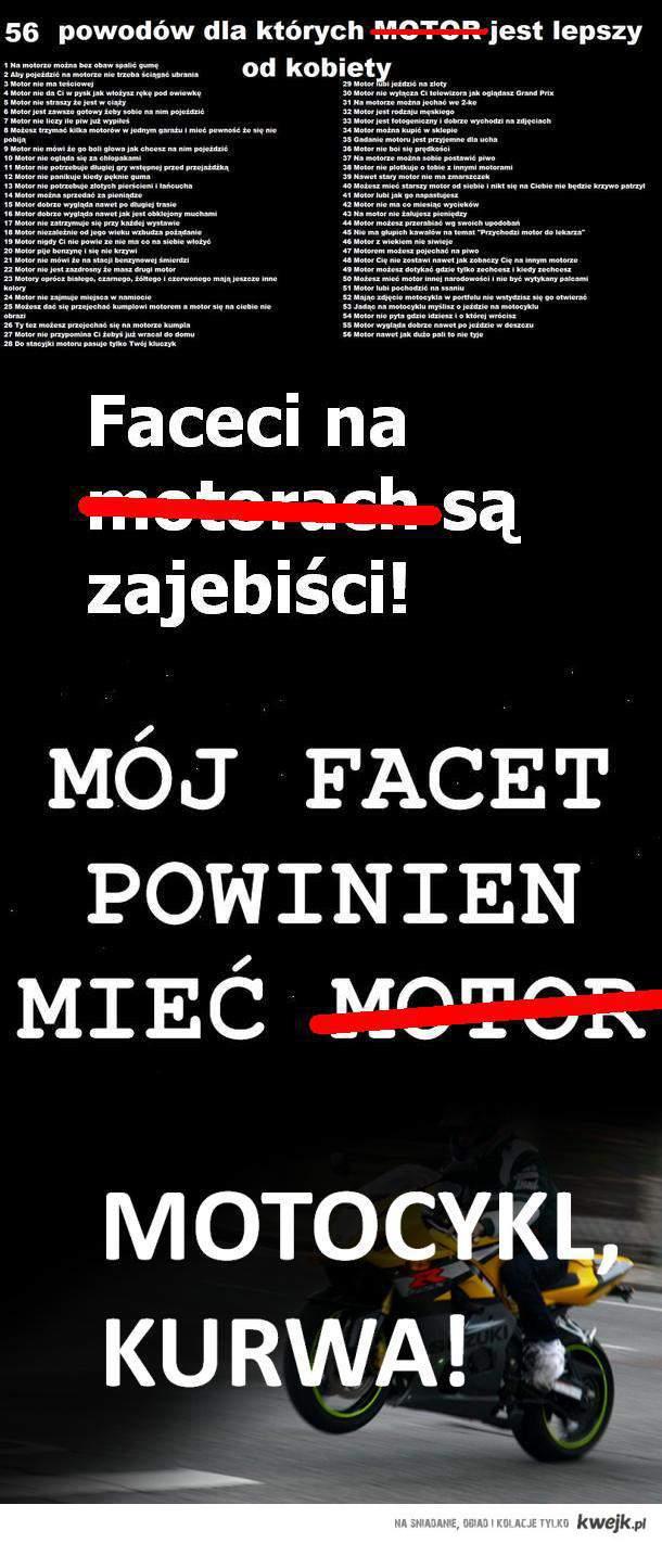 motocykl a motor
