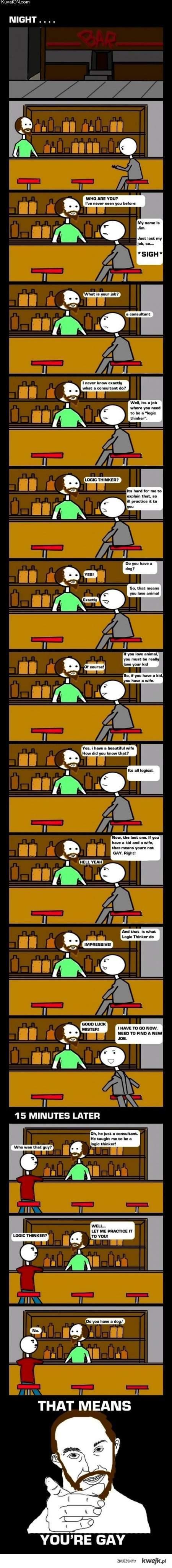 logic thinker comic