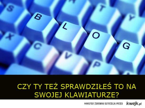 blog na klawiaturze